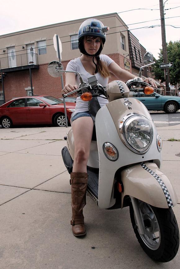 casque scooter jeune