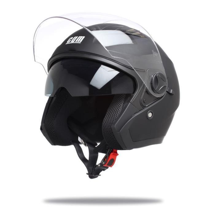 casque scooter noir
