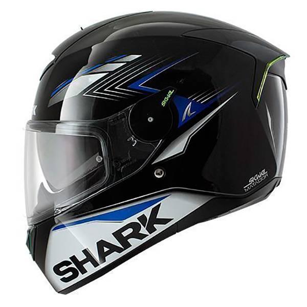 4efd54584c45c casque shark bleu et noir - Les casques de moto