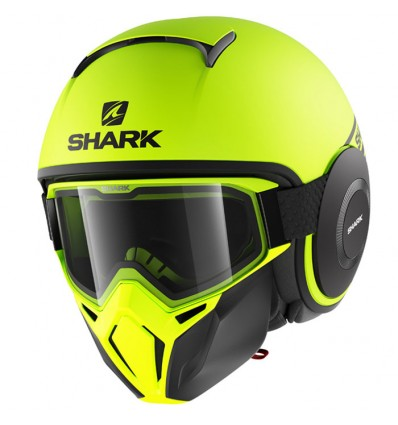 casque shark fluo