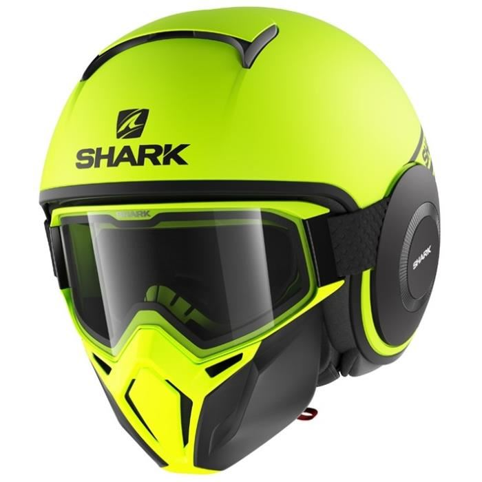 casque shark jaune