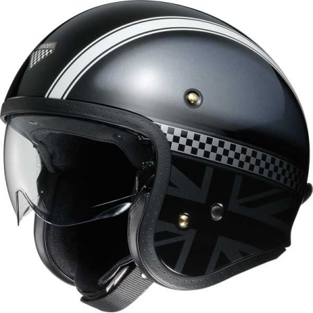 casque shoei j.o hawker tc 5 noir gris